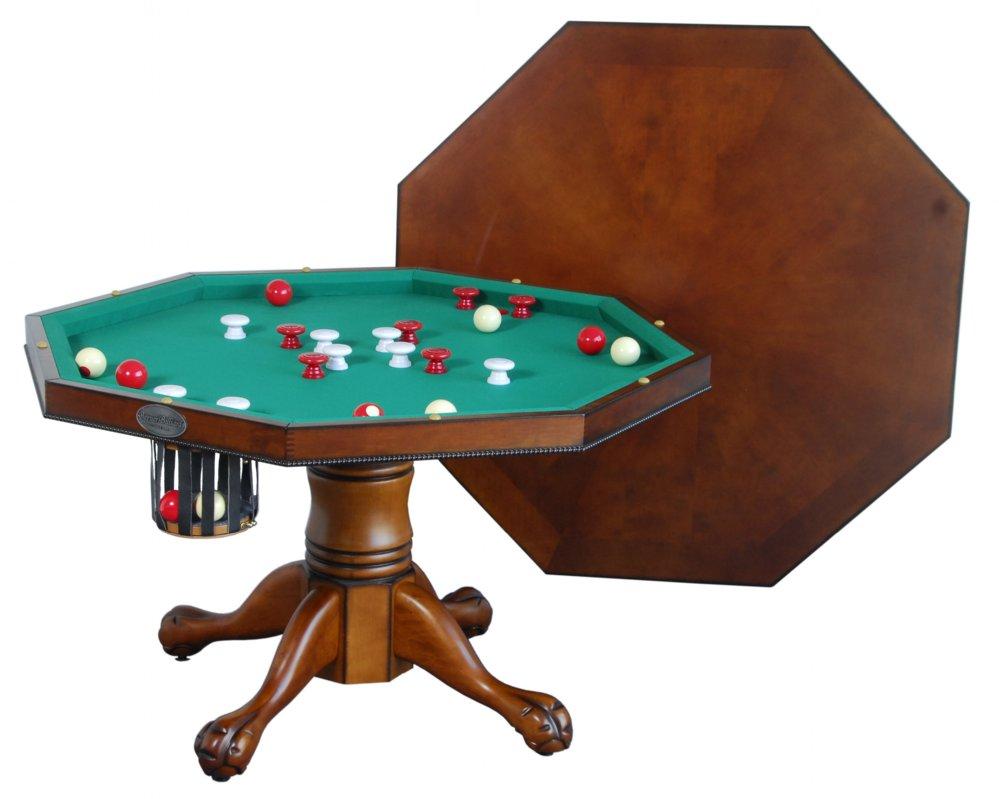 Berner billiards 3 in 1 table octagon 48 w bumper pool for Table 3 en 1