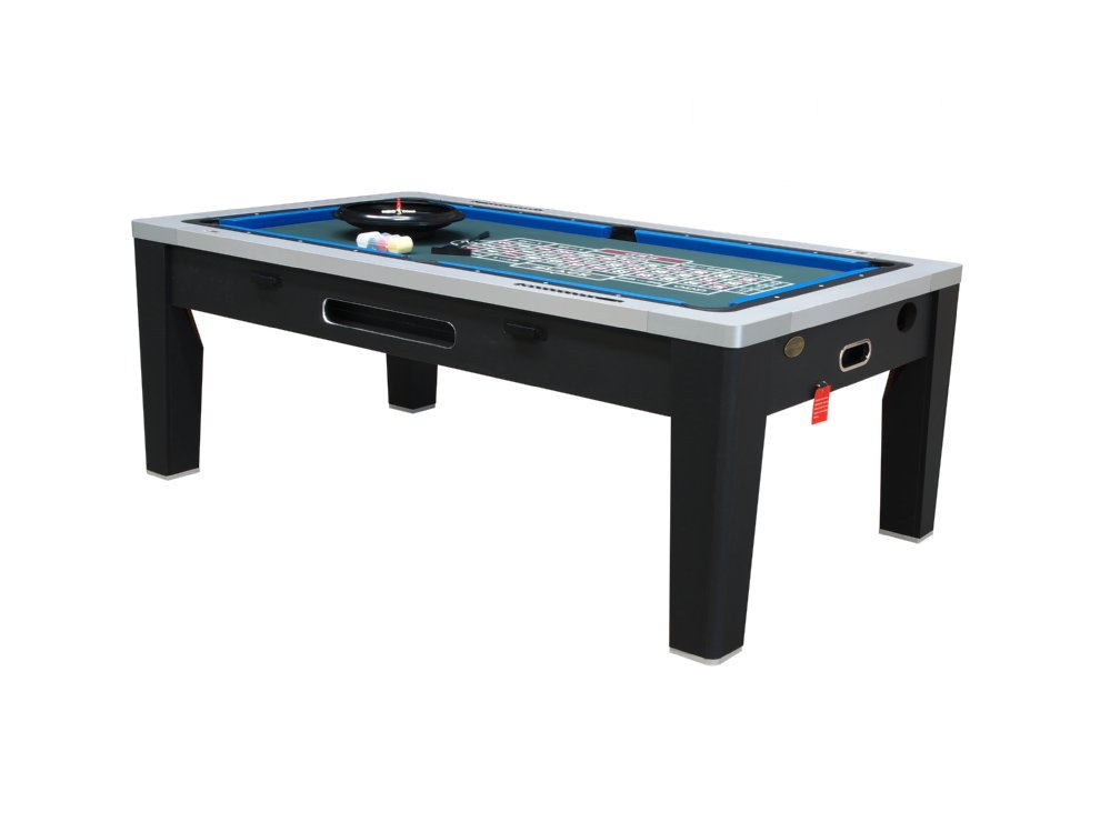 Berner billiards 6 in 1 multi game table pool air for Table 6 games