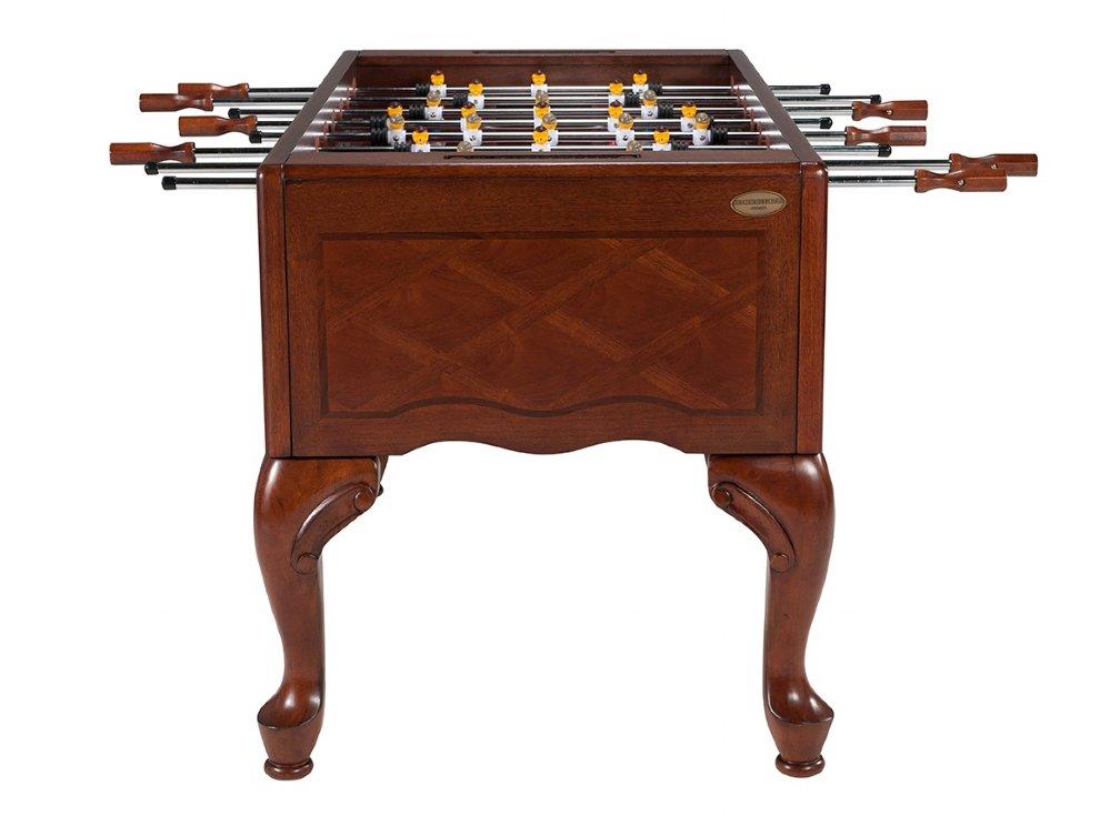 berner billiards queen anne furniture style foosball table in walnut soccer table. Black Bedroom Furniture Sets. Home Design Ideas
