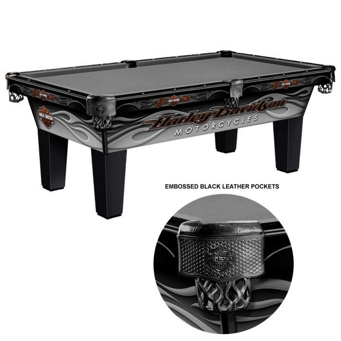 H-D® 7 Foot Radical Flames Pool Table