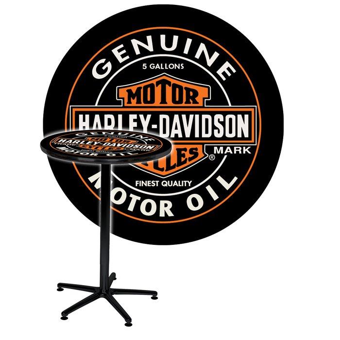 Harley Davidson 174 H D 174 Oil Can Cafe Bar Pub Table Hdl 12316