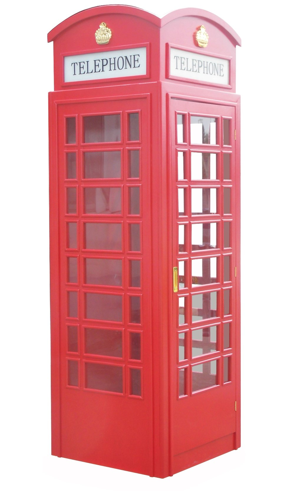 English Style Replica Telephone Phone Booth Painted