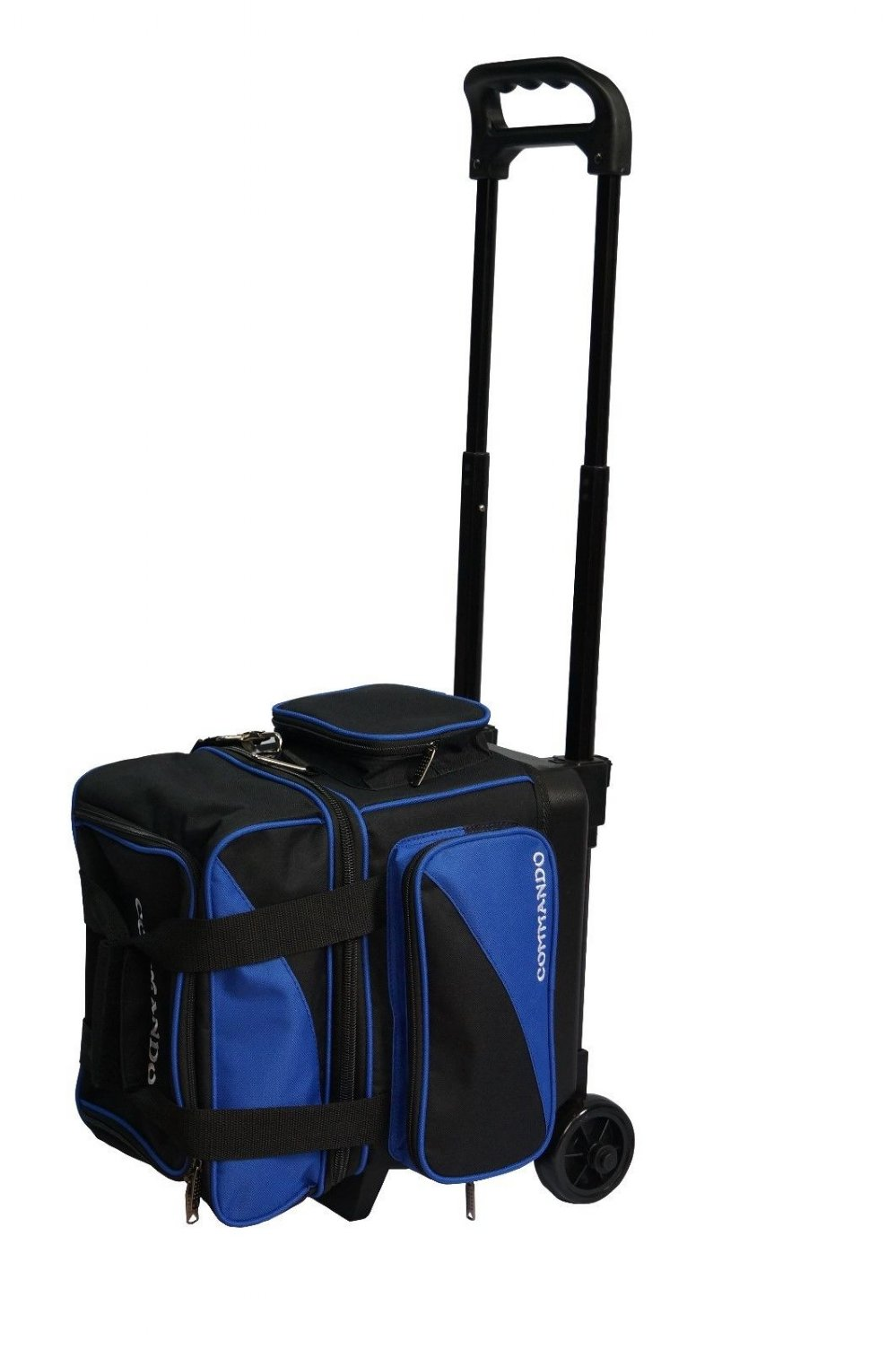 The Commando 1 Ball Single Roller Bowling Bag In Blue Black Free Shipping
