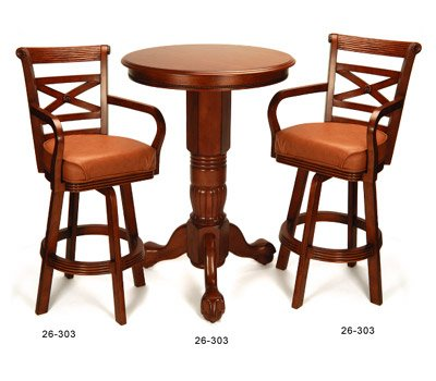 sc 1 st  GameTables4Less & Honey Pedestal Pub Table u0026 2 Chair Set ~ by Berner Billiards