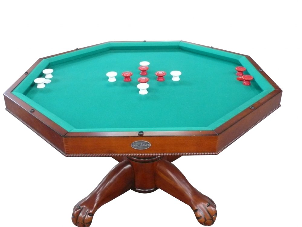 """Octagon Game Table in 1 Table - Octagon 48"""" Table with Slate Bumper Pool, Poker and ..."""