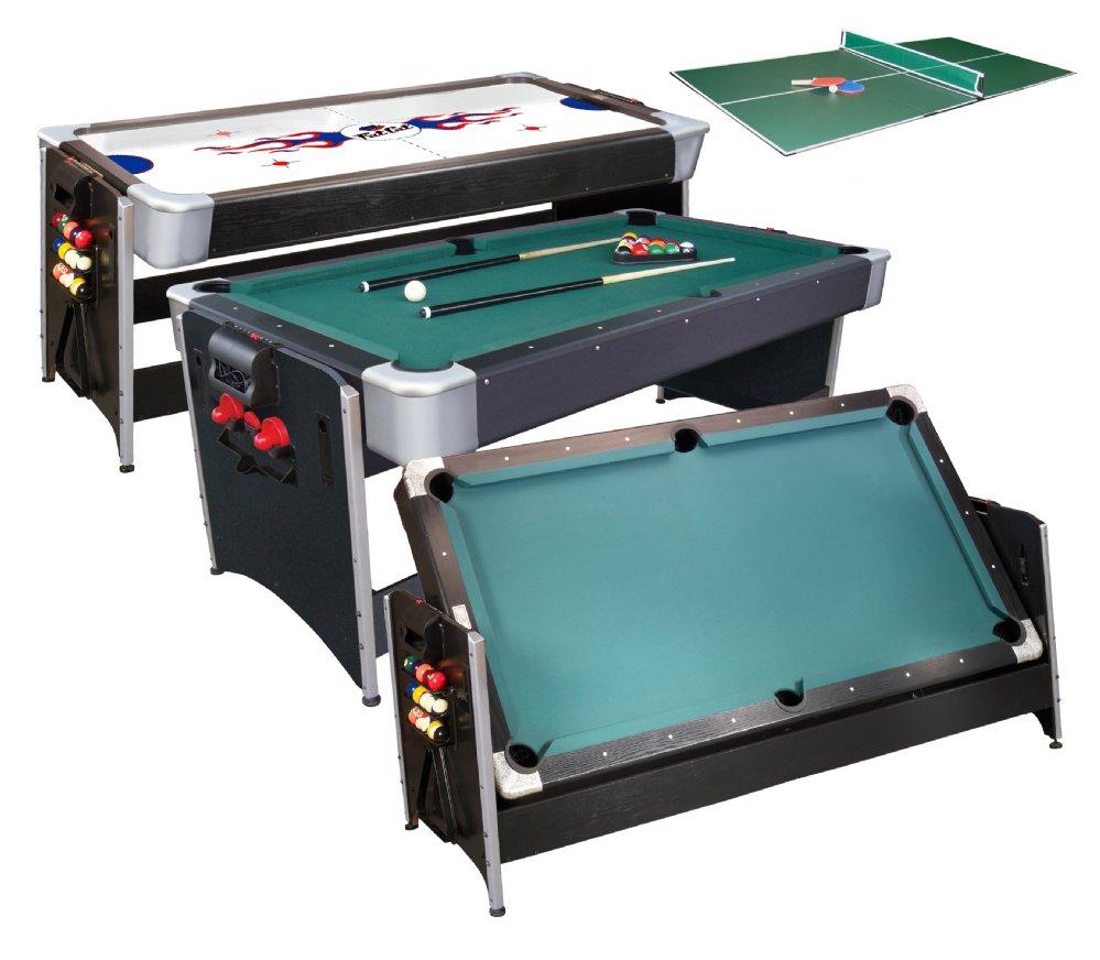 Pockey 3 In 1 Pool, Air Hockey U0026 Ping Pong Table By FatCat U003cBR