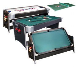 Pockey 3 In 1 Pool, Air Hockey Amp; Ping Pong Table By FatCat FREE