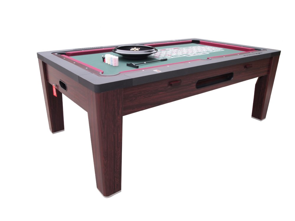 6 In 1 Multi Game Table In Walnut By Berner Billiards U003cbru003eFREE SHIPPING