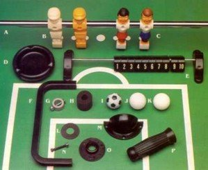 Foosball Replacement Parts For Imperial Model Table