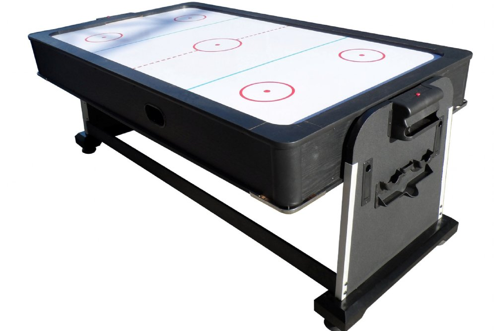 Foot club pro air hockey table by berner billiards w ping for 10 in 1 pool table