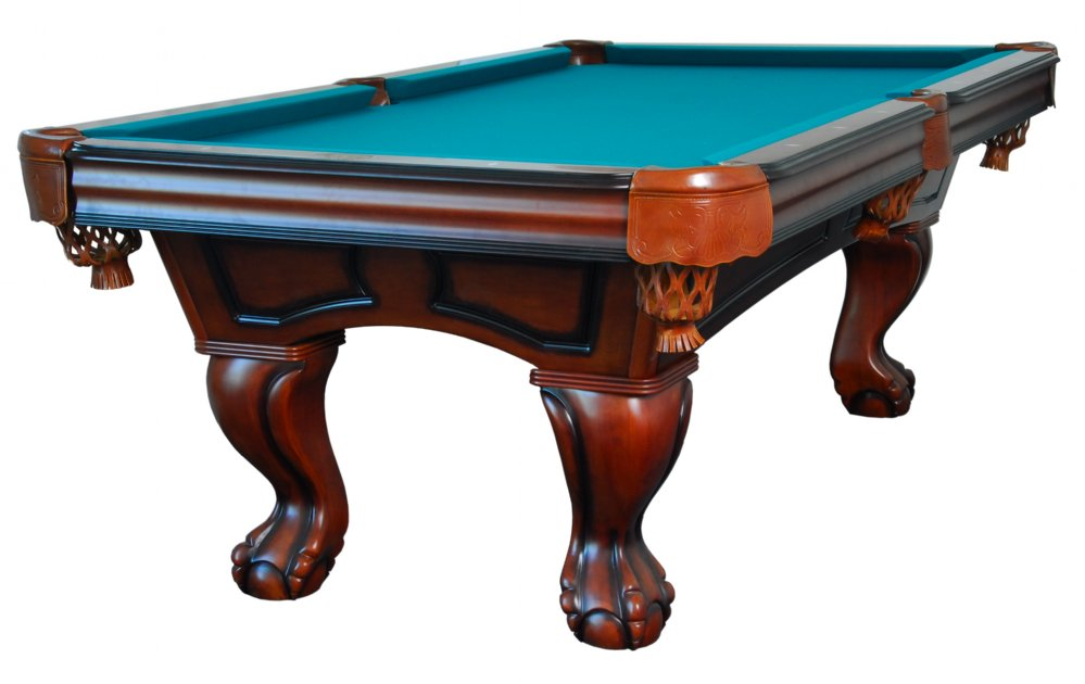 Boca Pool Table In Antique Walnut With Ball U0026 Claw Leg U003cBRu003eFREE SHIPPING