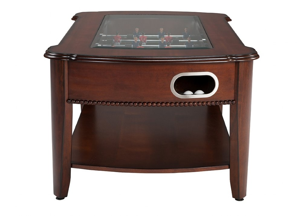 The Maxwell In Foosball Coffee Table In Mahogany By Berner - Antique foosball table for sale