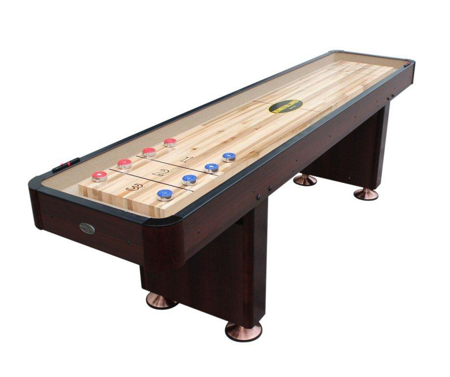 Berner Billiards Foot Shuffleboard Table The Standard In Oak - Standard shuffleboard table