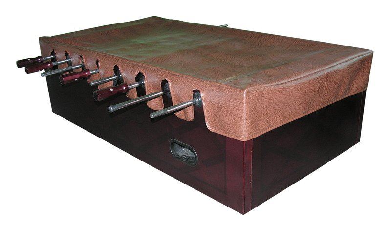 foosball table cover in brown shipping