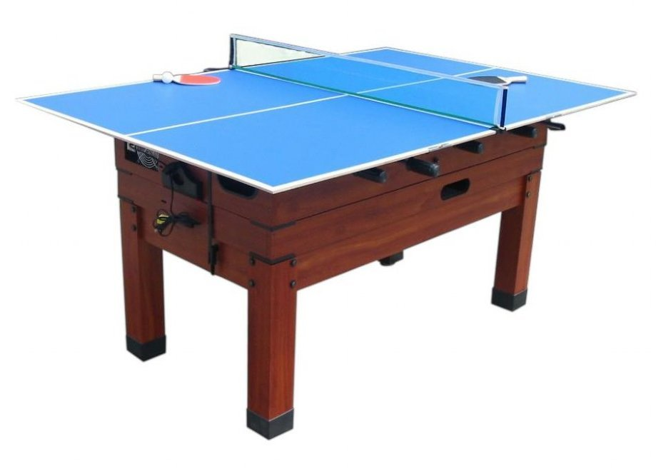 Mini ping pong conversion top in blue for bumper pool table or 13 in 1 game t - Table billard ping pong ...