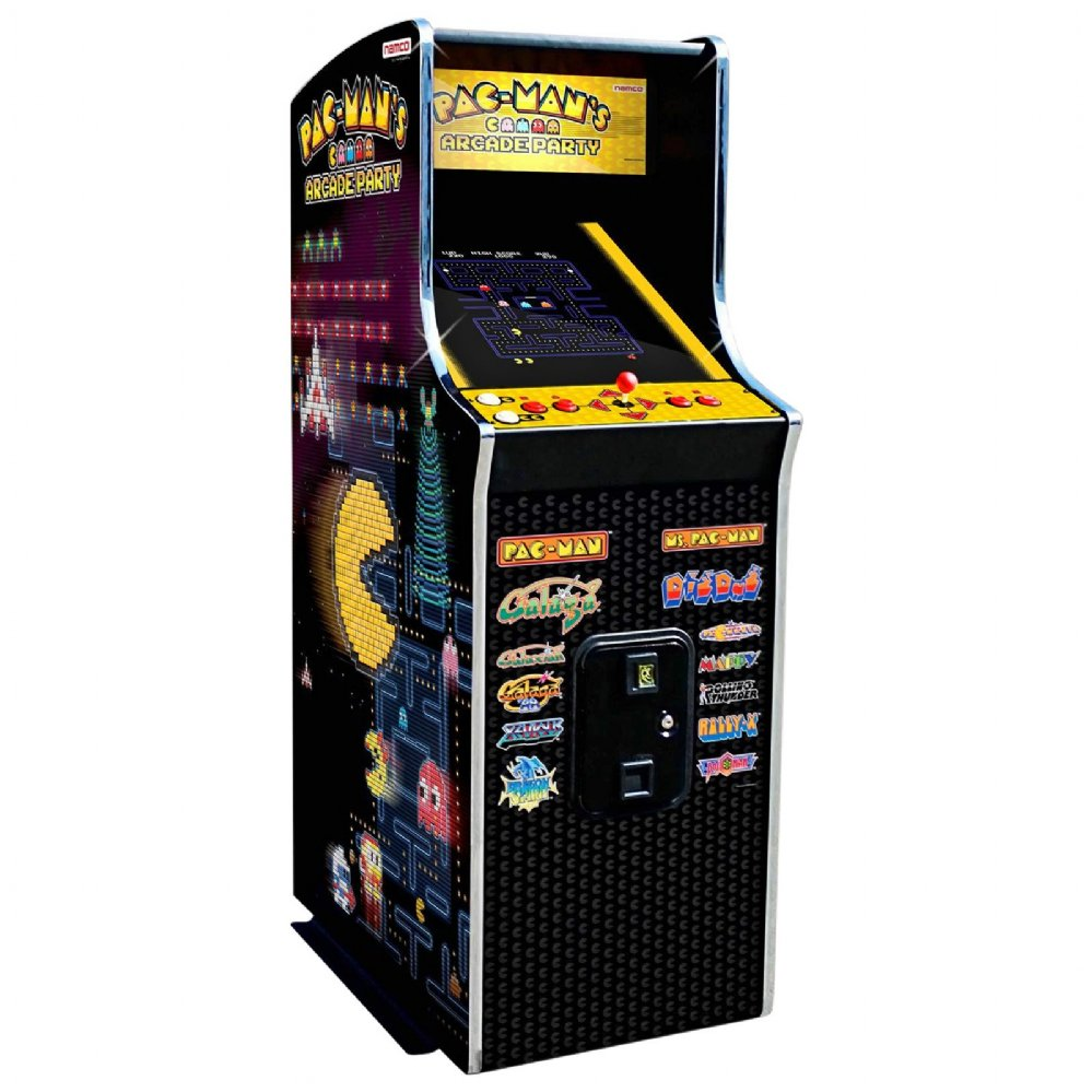 namco pac man 39 39 s arcade party video game cabaret cabinet ms pacman galaga galaxian dig dug. Black Bedroom Furniture Sets. Home Design Ideas