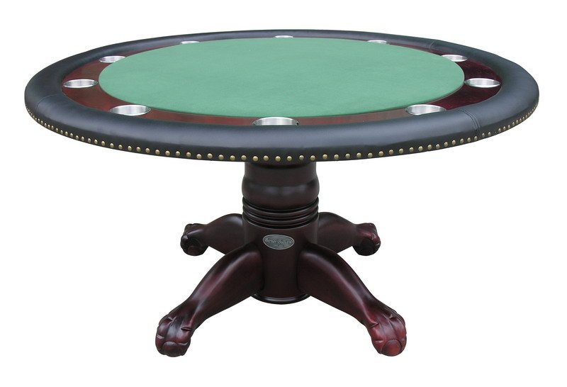 Berner Billiards 60 Quot Round Poker Table 4 Chairs In