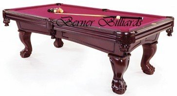 Berner Billiards Boca Pool Table In Cherry With Ball Claw Leg - Claw foot pool table