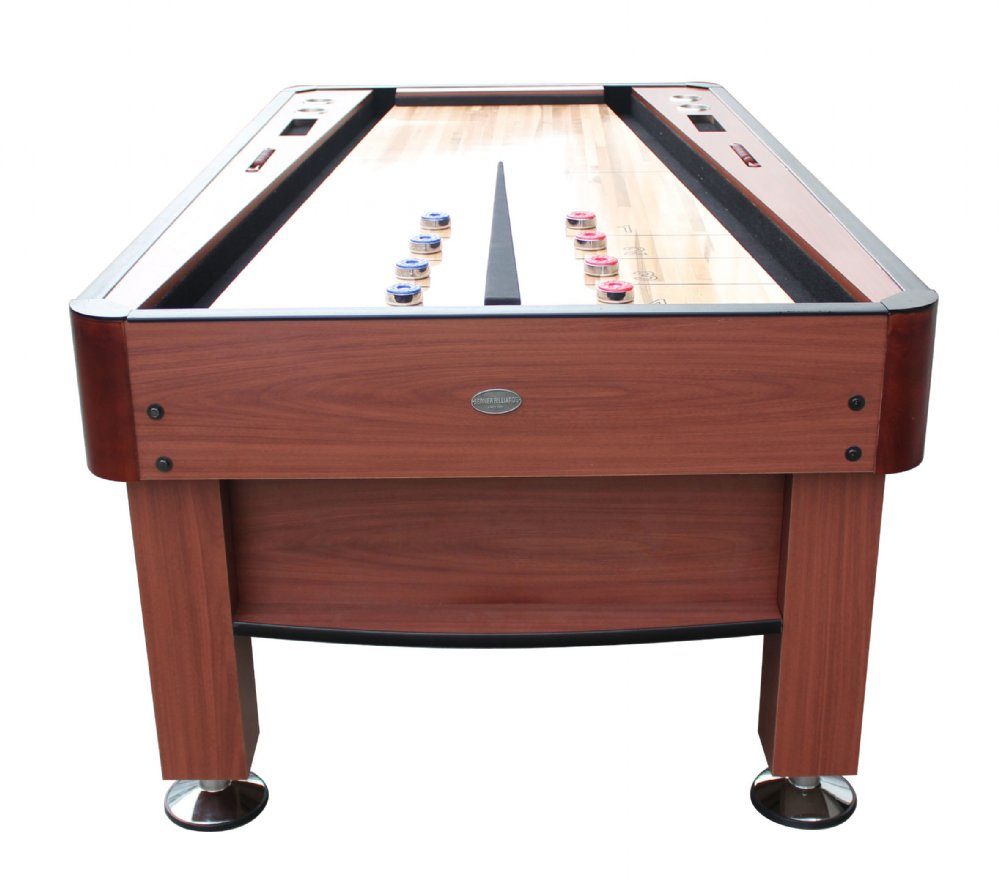 The Rebound Shuffleboard Table In Cherry Or Black By Berner Billiards Br