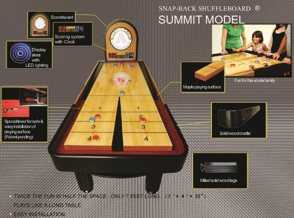 online table shuffleboard games for free