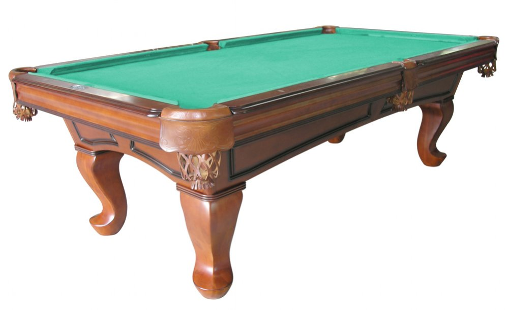 Daytona Pool Table In Antique Walnut With Spoon Leg U003cbru003eFREE SHIPPING