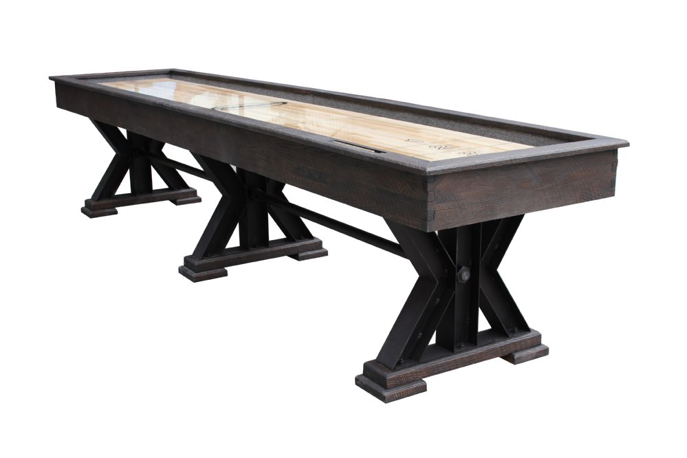 Berner Billiards The Weathered Shuffleboard Table in Black is
