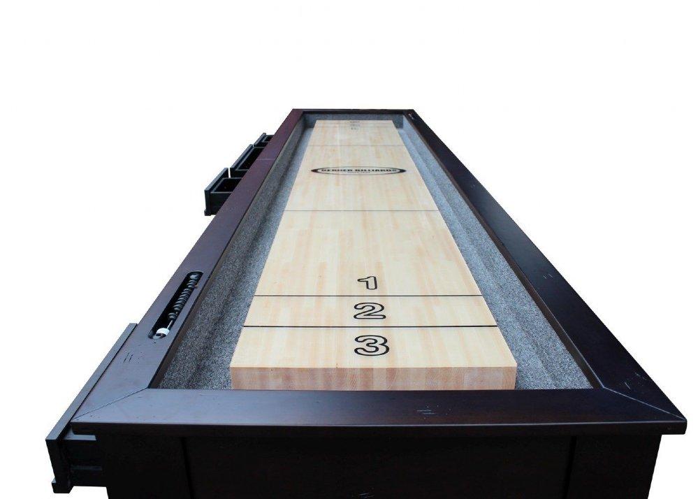 Berner Billiards Or Foot Shuffleboard Table The Aspen - 12 foot shuffleboard table for sale