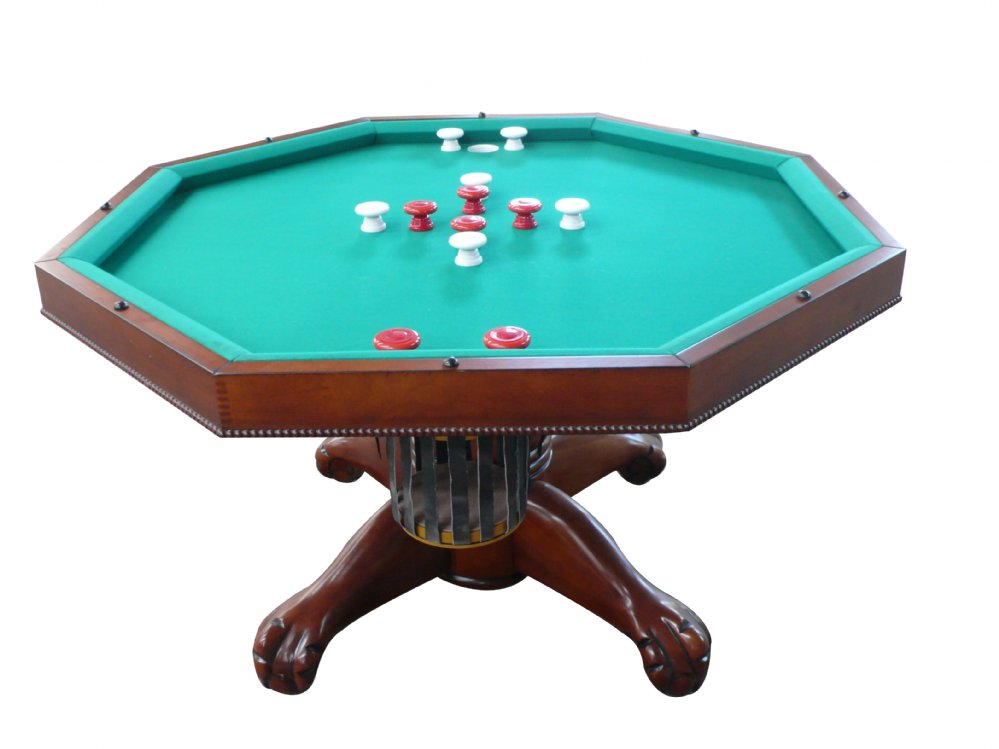 3 In 1 Table Octagon 54 W Per Pool With Slate Bed Antique Walnut Free