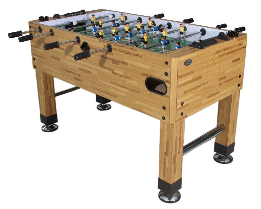 Berner Premium Foosball Table In Butcher Block With Both 1 U0026 3 Man Goalie  U003cbr
