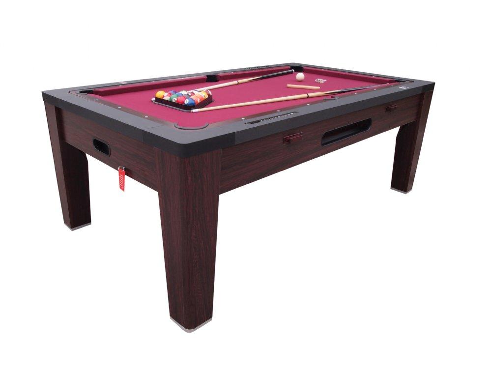 6 In 1 Multi Game Table In Walnut By Berner Billiards U003cbru003eFREE SHIPPING