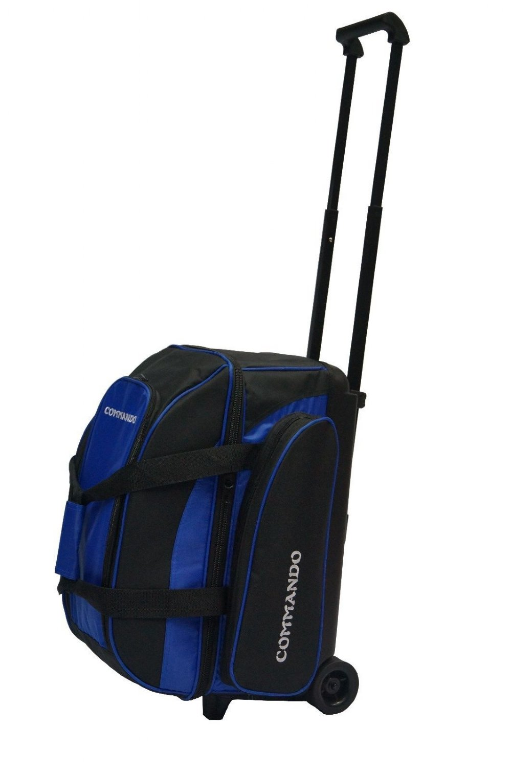 The Commando 2 Ball Double Roller Bowling Bag In Blue Black Free Shipping
