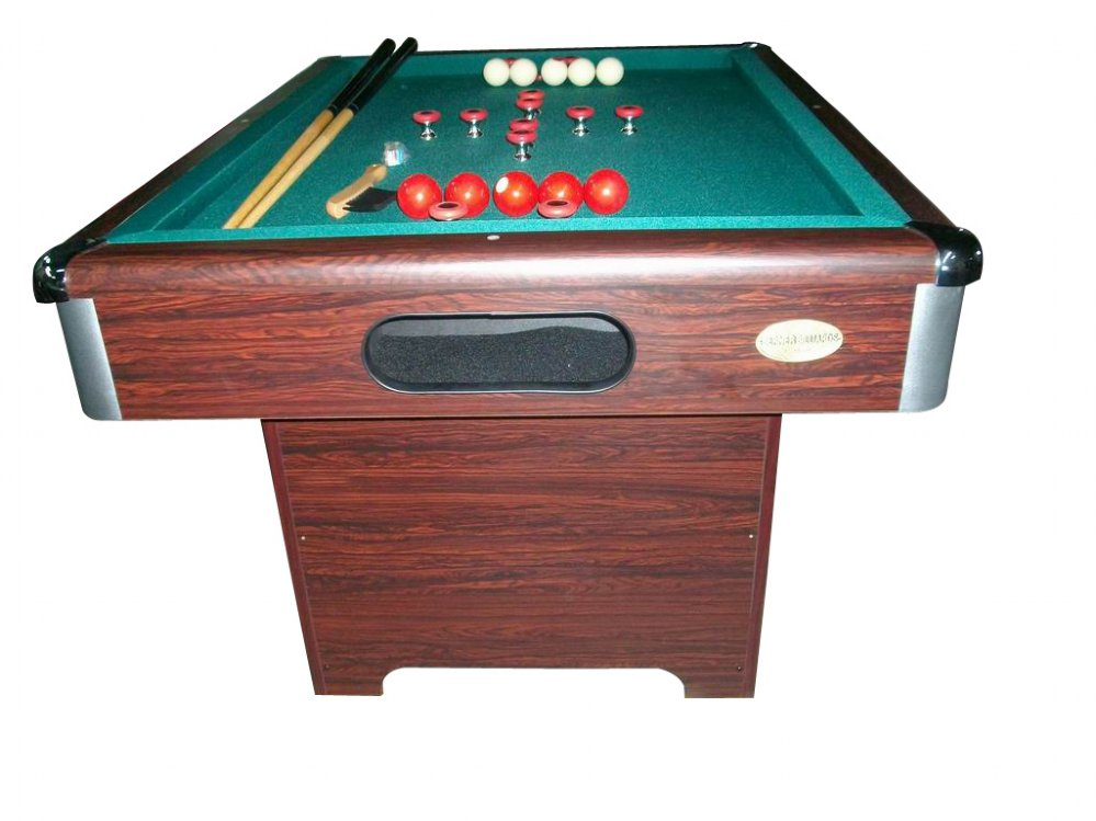 Berner Billiards Slate Bumper Pool Table In Walnut Free