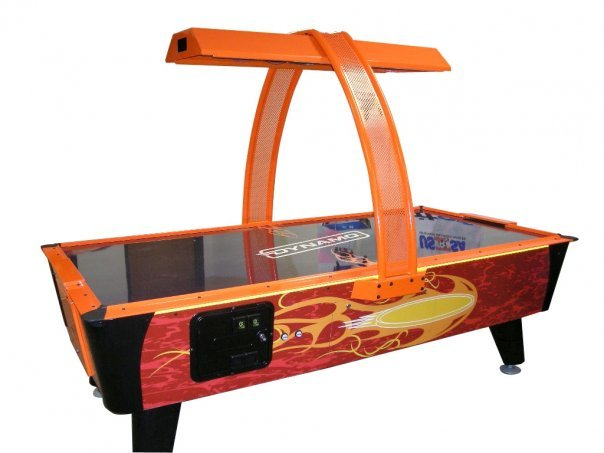 8 Foot Fire Storm Coin Op Air Hockey Table By Dynamo Free Shipping