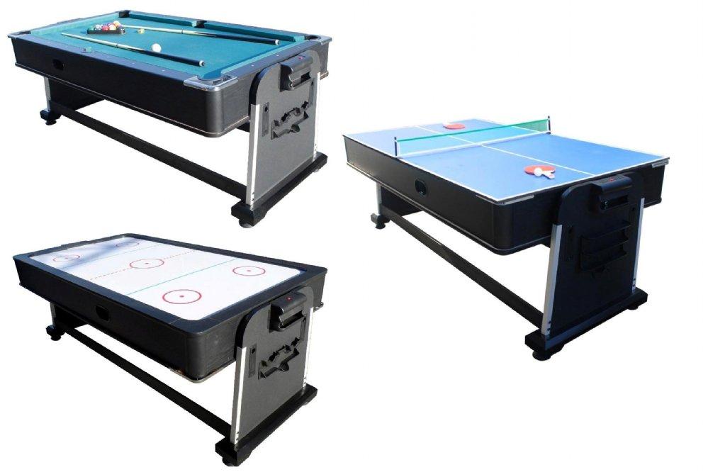 Berner Billiards 3 In 1 Multi Game Table Pool Air Hockey Ping