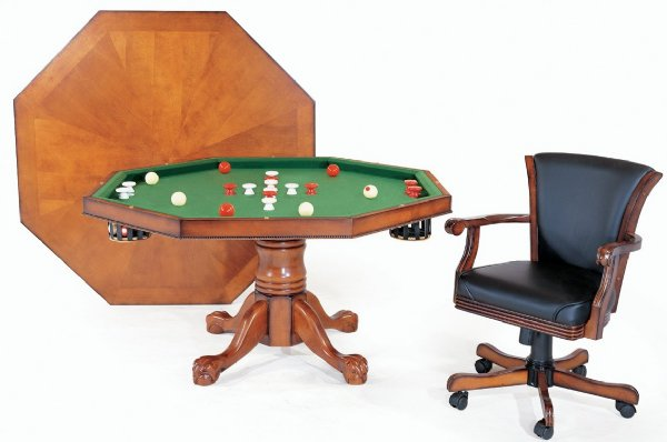 3 in 1 Table - Octagon 48  w/Bumper Pool + 4 Chairs -  sc 1 th 183 & Berner Billiards 3 in 1 Table - Octagon 48 with Bumper Pool + 4 ...