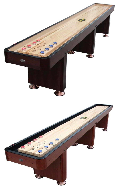Berner Billiards Foot Shuffleboard Table The Standard In Cherry - Standard shuffleboard table